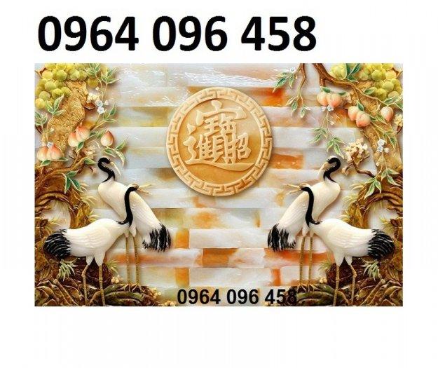 Tranh gạch 3d chim công trang trí phòng khách - VBF48