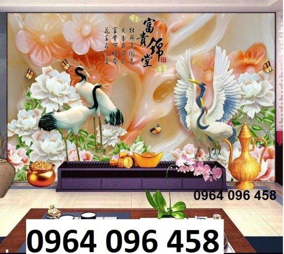 Tranh gạch 3d chim công trang trí phòng khách - VBF42