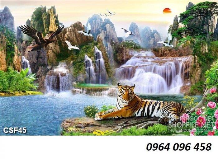Tranh hổ - gạch tranh hổ 3d - BNM878