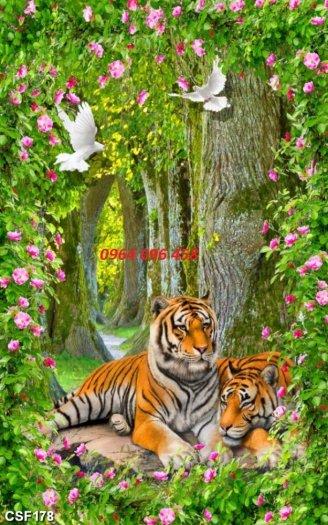 Tranh hổ - gạch tranh hổ 3d - BNM876
