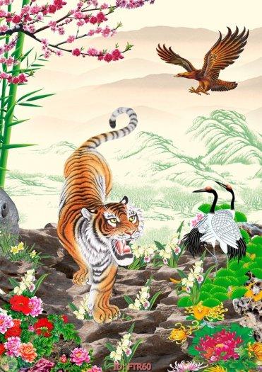 Tranh hổ - gạch tranh hổ 3d - BNM874