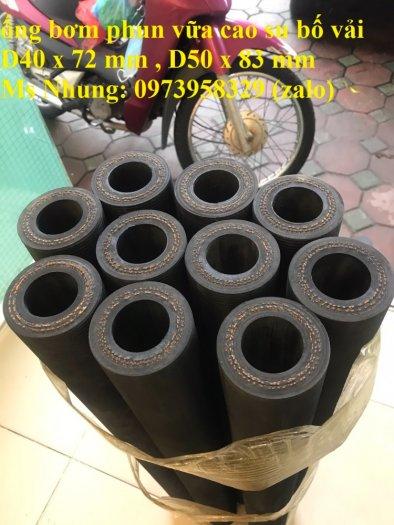 Ống cao su phun vữa bê tông - phụ gia trộn vữa đường kính 50 x 83 mm , 40 x 72 mm chiều dài 90 cm , 93 cm, 100cm12
