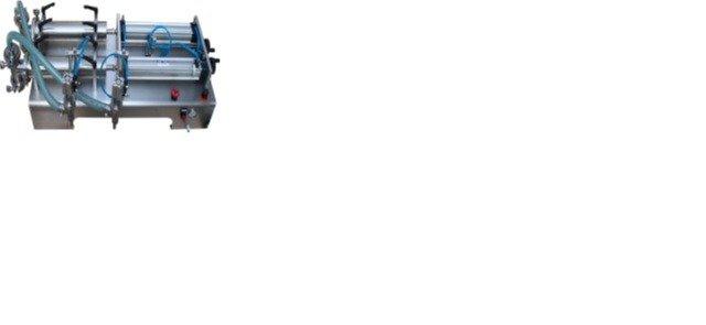 Máy chiết rót dịch lỏng hai vòi, máy chiết rót dịch thuốc thủy sản, máy chiết rót 2 vòi nằm ngang2