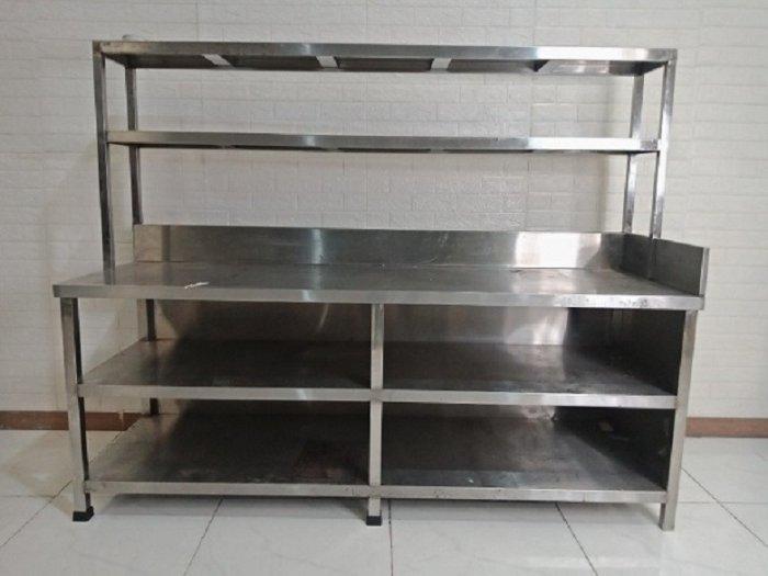 Bàn bếp inox có kệ để đồ Hải Minh HM 0118