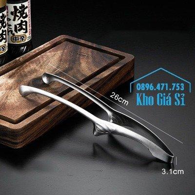 Kẹp gắp BBQ kiểu Nhật bằng inox 304 - kẹp gắp Nhật bằng inox cao cấp5