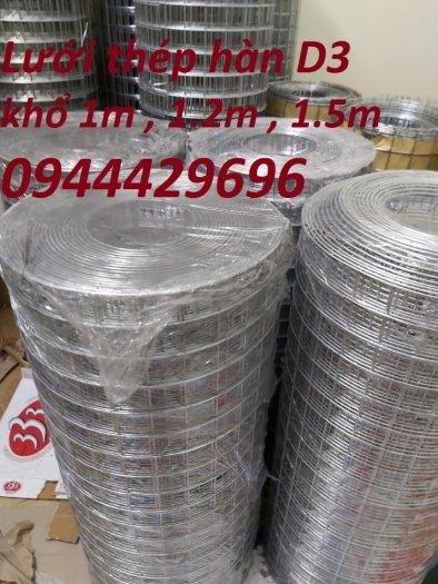Lưới hàn phi 3 ô 50x50 khổ 1m, 1,2m, 1,5m mạ kẽm  hàng sẵn kho3