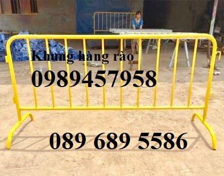 Gia công hàng rào chắn tạm thời, Hàng rào giãn cách dịch Covid 1,2mx2m, 1mx2m9