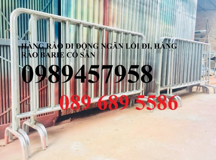 Gia công hàng rào chắn tạm thời, Hàng rào giãn cách dịch Covid 1,2mx2m, 1mx2m7