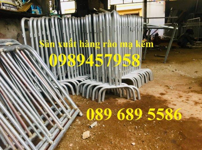 Gia công hàng rào chắn tạm thời, Hàng rào giãn cách dịch Covid 1,2mx2m, 1mx2m4
