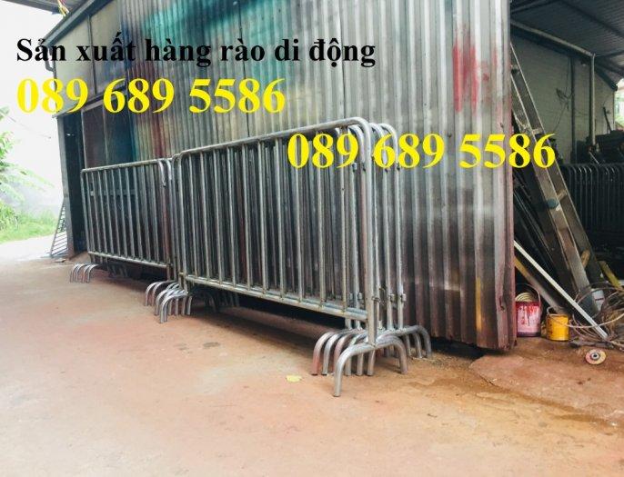 Gia công hàng rào chắn tạm thời, Hàng rào giãn cách dịch Covid 1,2mx2m, 1mx2m3