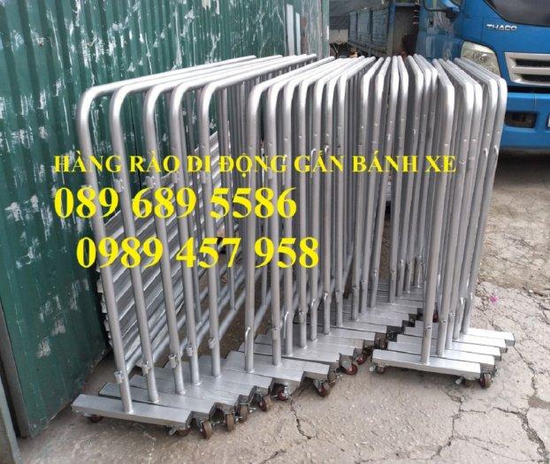 Gia công hàng rào chắn tạm thời, Hàng rào giãn cách dịch Covid 1,2mx2m, 1mx2m1