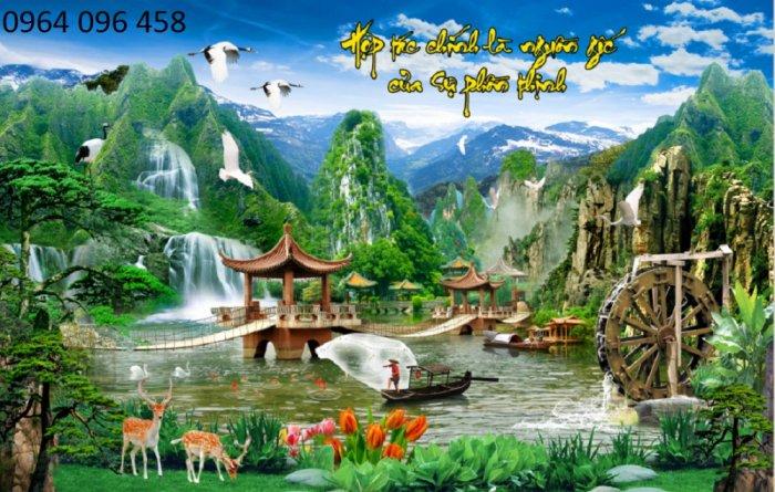 Tranh gạch 3d - gạch tranh 3d phong cảnh - ABN435