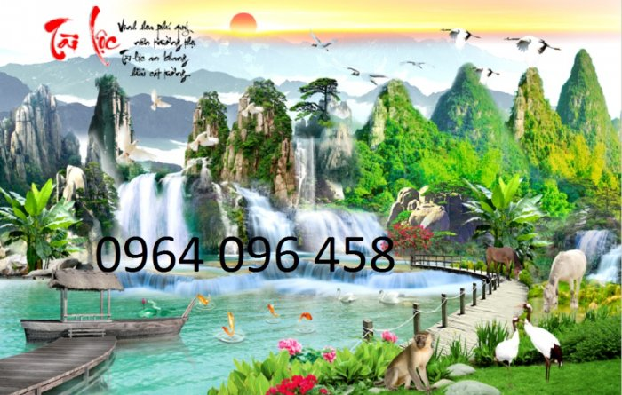 Tranh gạch 3d - gạch tranh 3d phong cảnh - ABN434
