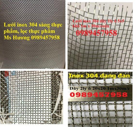 Lưới inox chống muỗi khổ 1,5mx30m, Lưới chống côn trùng inox3167
