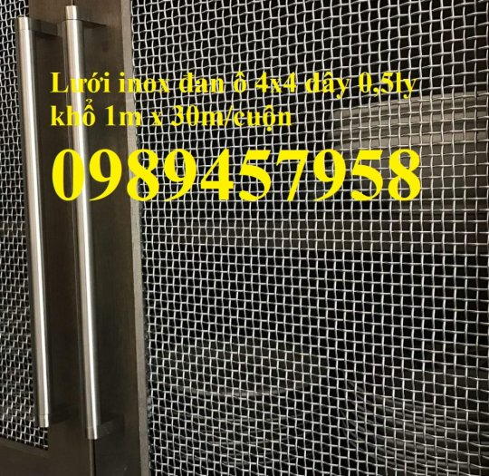 Lưới inox chống muỗi khổ 1,5mx30m, Lưới chống côn trùng inox3160