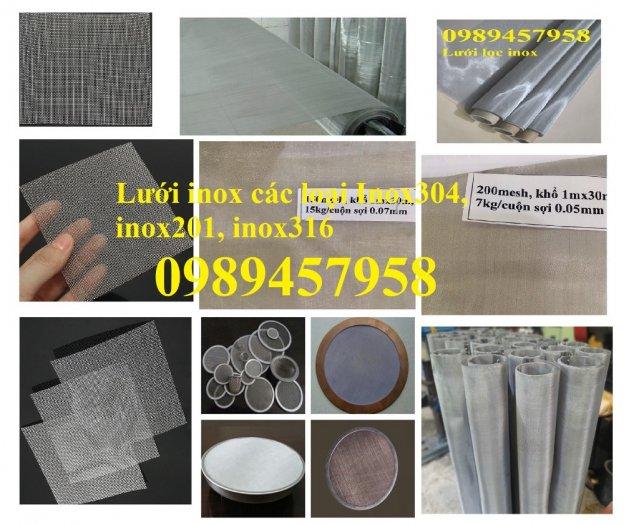 Lưới đan inox 304 Phi 0.5ly, Lưới inox 304 Phi 1.2ly ô 2x2ly, 8x8, 15x15, 20x20, 40x409
