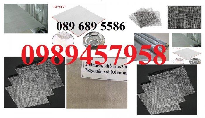 Lưới đan inox 304 Phi 0.5ly, Lưới inox 304 Phi 1.2ly ô 2x2ly, 8x8, 15x15, 20x20, 40x407