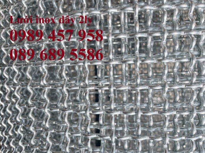 Lưới đan inox 304 Phi 0.5ly, Lưới inox 304 Phi 1.2ly ô 2x2ly, 8x8, 15x15, 20x20, 40x404