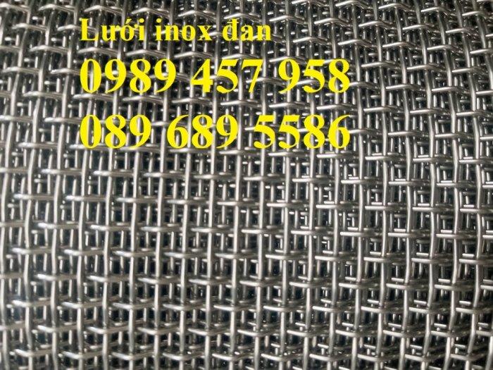 Lưới đan inox 304 Phi 0.5ly, Lưới inox 304 Phi 1.2ly ô 2x2ly, 8x8, 15x15, 20x20, 40x403