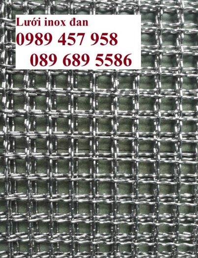 Lưới đan inox 304 Phi 0.5ly, Lưới inox 304 Phi 1.2ly ô 2x2ly, 8x8, 15x15, 20x20, 40x402