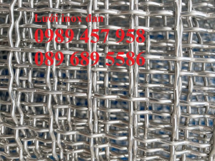Lưới đan inox 304 Phi 0.5ly, Lưới inox 304 Phi 1.2ly ô 2x2ly, 8x8, 15x15, 20x20, 40x401