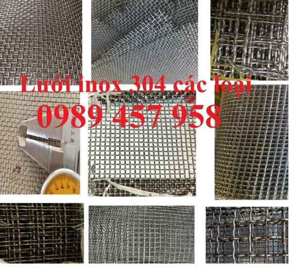 Lưới đan inox 304 Phi 0.5ly, Lưới inox 304 Phi 1.2ly ô 2x2ly, 8x8, 15x15, 20x20, 40x400
