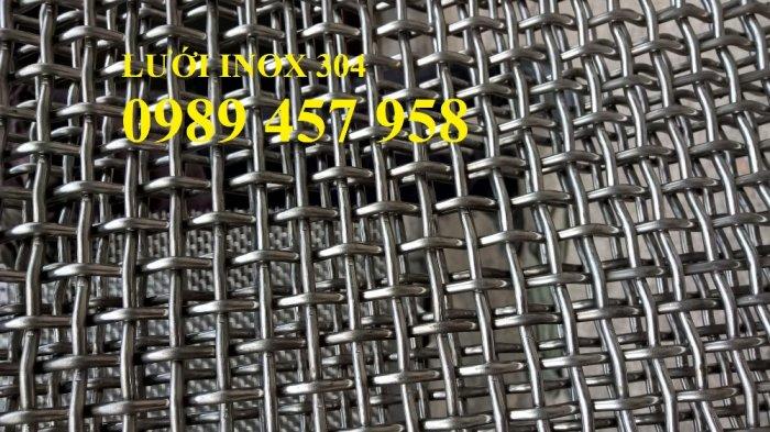 Lưới inox làm tủ bếp, Lưới inox304 chắn chuột. Lưới chắn rác, Lưới inox 304 dây 1ly17