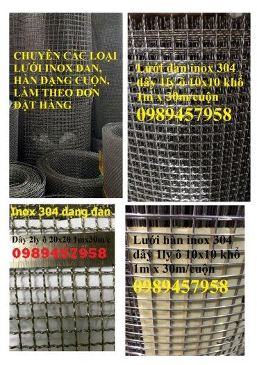 Lưới inox làm tủ bếp, Lưới inox304 chắn chuột. Lưới chắn rác, Lưới inox 304 dây 1ly16