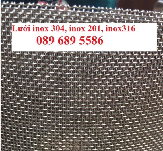 Lưới inox làm tủ bếp, Lưới inox304 chắn chuột. Lưới chắn rác, Lưới inox 304 dây 1ly10