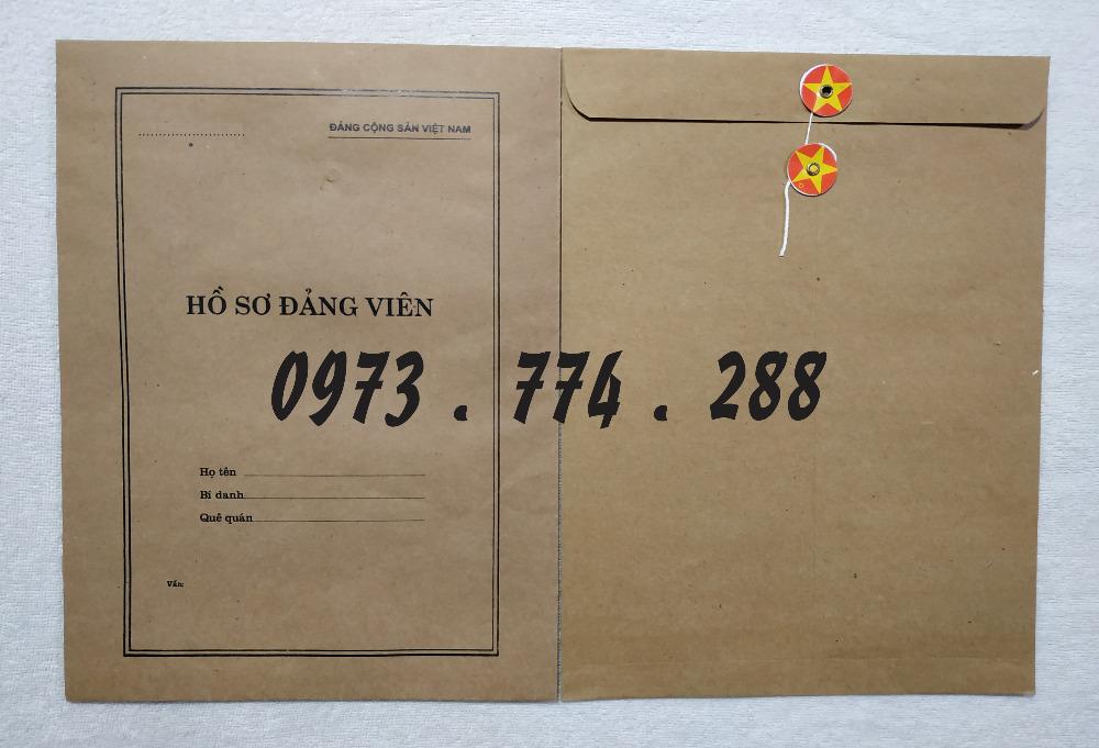 Phong bì đựng hồ sơ đảng viên4