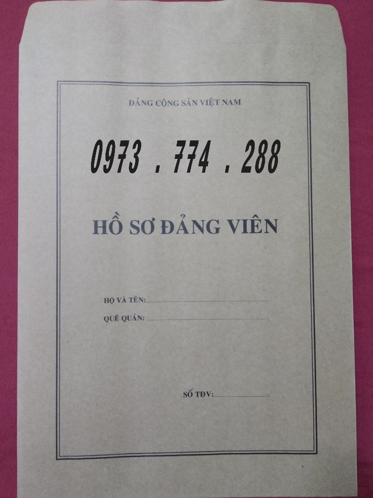Bao bì hồ sơ đảng viên5