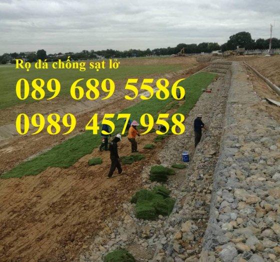 Chuyên sản xuất rọ đá mạ kẽm, thảm đá, rồng đá mạ kẽm kè đường, Rọ thép kè sông6