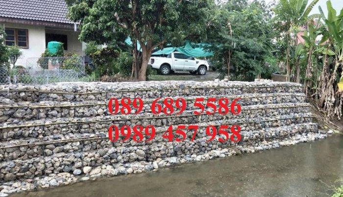 Chuyên sản xuất rọ đá mạ kẽm, thảm đá, rồng đá mạ kẽm kè đường, Rọ thép kè sông4