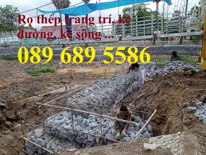 Chuyên sản xuất rọ đá mạ kẽm, thảm đá, rồng đá mạ kẽm kè đường, Rọ thép kè sông0