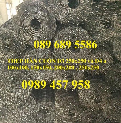 Lưới thép hàn chống thấm D3, D4, Lưới chống nứt bê tông phi 3, phi 4 a 200x200, 250x2502