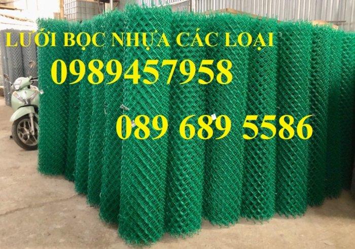 Lưới hàng rào b40 bọc nhựa PVC, Lưới b40 hàng rào bảo vệ cao 2m, 2m413