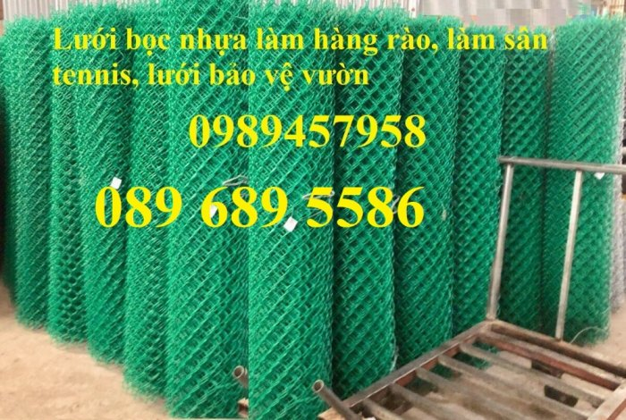 Lưới hàng rào b40 bọc nhựa PVC, Lưới b40 hàng rào bảo vệ cao 2m, 2m412