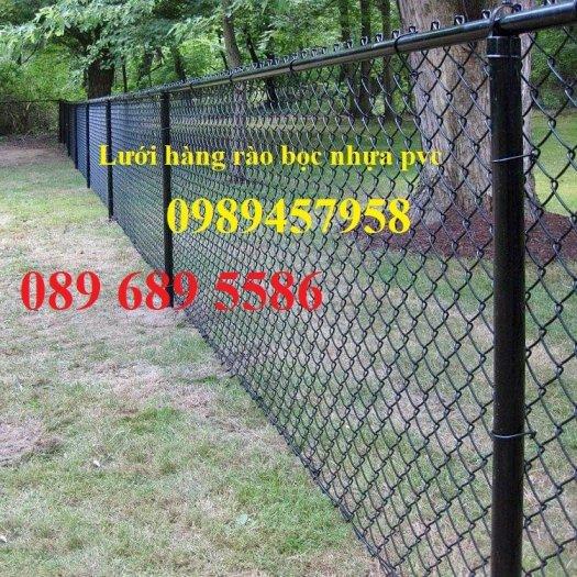 Lưới hàng rào b40 bọc nhựa PVC, Lưới b40 hàng rào bảo vệ cao 2m, 2m49