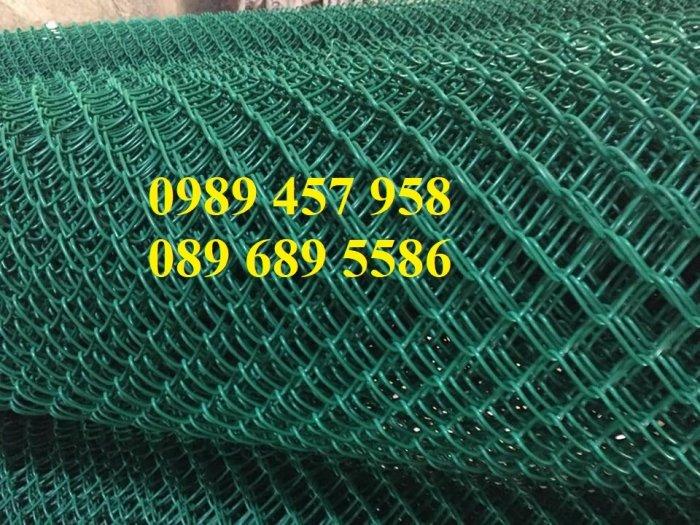 Lưới hàng rào b40 bọc nhựa PVC, Lưới b40 hàng rào bảo vệ cao 2m, 2m47