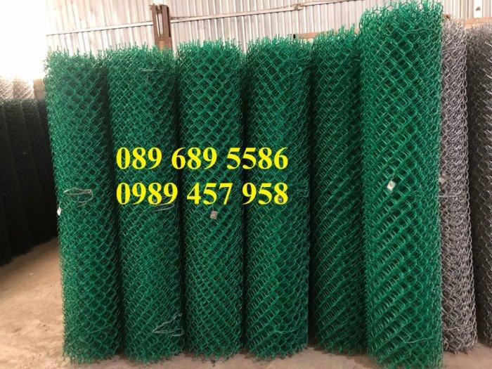 Lưới hàng rào b40 bọc nhựa PVC, Lưới b40 hàng rào bảo vệ cao 2m, 2m46