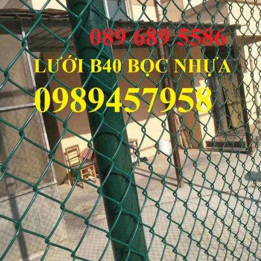Lưới hàng rào b40 bọc nhựa PVC, Lưới b40 hàng rào bảo vệ cao 2m, 2m45