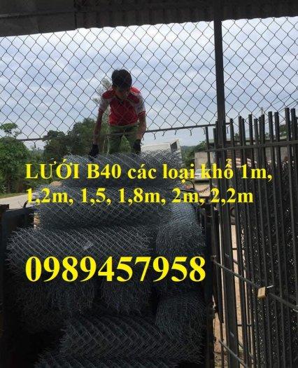 Lưới hàng rào b40 bọc nhựa PVC, Lưới b40 hàng rào bảo vệ cao 2m, 2m44