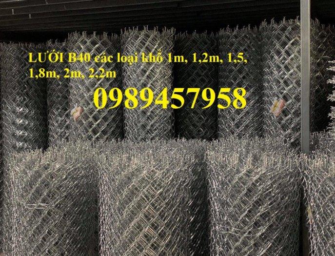 Lưới hàng rào b40 bọc nhựa PVC, Lưới b40 hàng rào bảo vệ cao 2m, 2m43