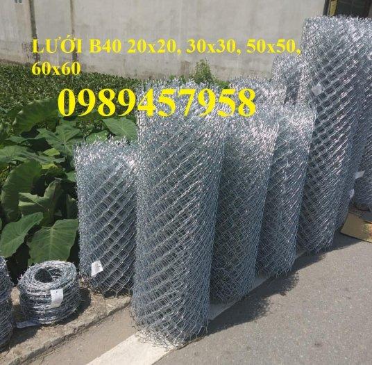 Lưới hàng rào b40 bọc nhựa PVC, Lưới b40 hàng rào bảo vệ cao 2m, 2m42