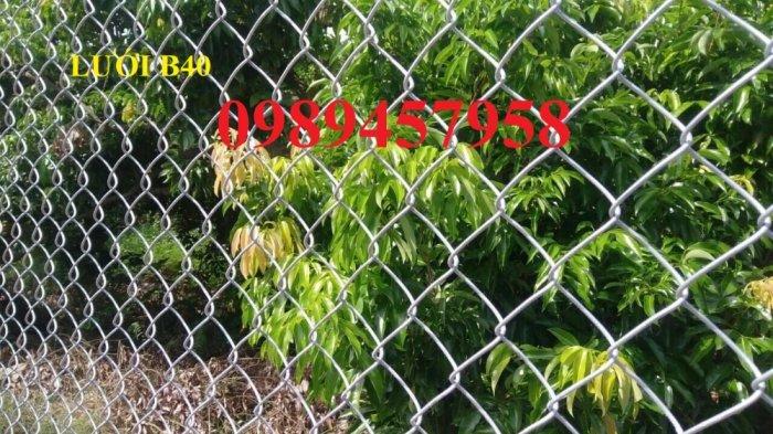 Lưới hàng rào b40 bọc nhựa PVC, Lưới b40 hàng rào bảo vệ cao 2m, 2m40