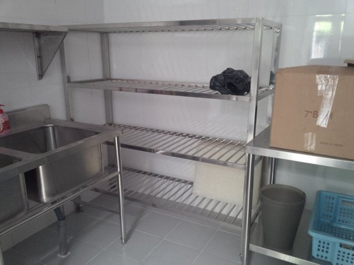Kệ bếp công nghiệp inox Hải MInh2