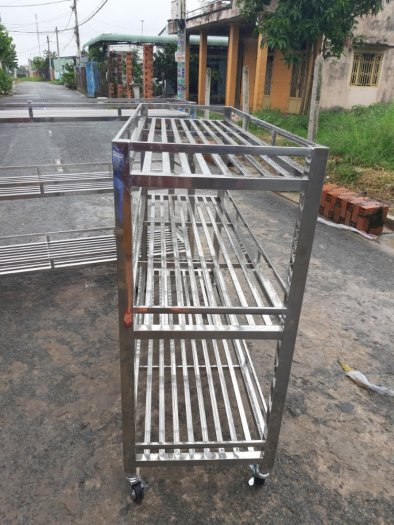 Kệ inox cất đồ nhà bếp Hải Minh HM 0019