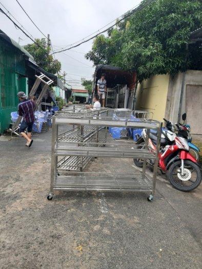 Kệ inox cất đồ nhà bếp Hải Minh HM 0017