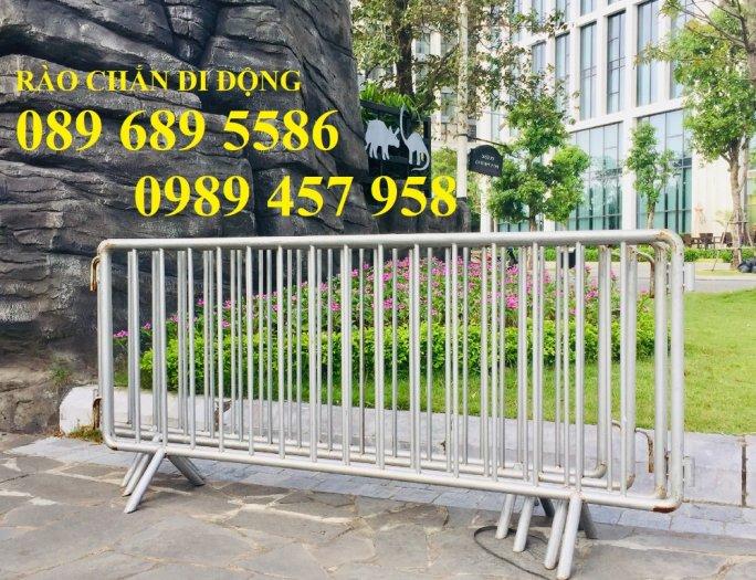 Gia công hàng rào cách ly, hàng rào barie có chốt, Hàng rào phân luồng giao thông3