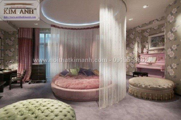 Giá giường tròn khách sạn, kích thước giường tròn công chúa tại cần thơ3